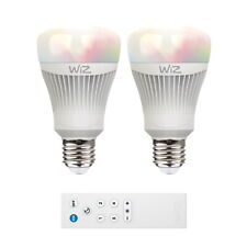 Set: 2x WiZ LED Lampe E27 11,5W 2200-6500K RGB + WiZ Mote Amazon Alexa Google