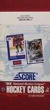 1992 Score NHL Hockey - Empty Display Box - Jeremy Roenick & Tom Barrasso on Box