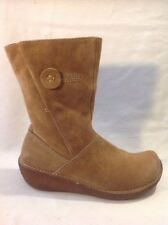 Hush Puppies Brown Mid Calf Leather Boots Size 4