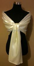 Ivory/Cream Large Satin Shawl/Wrap/Stole/Bolero/Pashmina/Shrug/Scarf Wedding