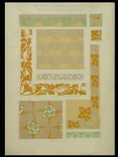 ORNEMENTATION MODERNE, MAURICE DUFRENE -1902- LITHOGRAPHIE, ART NOUVEAU