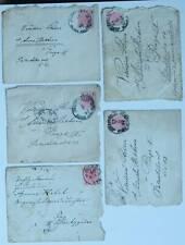 AUSTRIA 4x COVERS WIEN JUNGBUNZLAU 1896 STAMPS POSTAL HISTORY PRAHA ÖSTERREICH