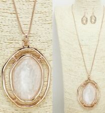 Rose Gold and White FASHION Necklace Set