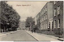 CLAPTON SQUARE nr Homerton Hackney & Dlaston w lamp post- Charles Martin