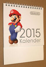 Nintendo Games Mario etc promo German Calendar 2015 very Rare