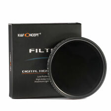 46mm Adjustable ND Neutral Density ND2 to ND400 Lens Filter Variable Fader