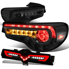 Fit 13-16 FRS BRZ Sequential LED Signal Tail Light+Rear Third Brake Lamp Smoked