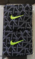 Nike Dri-Fit Tennis Wristbands Color Black/Volt 1 Pair New