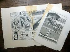 Encyclopédie Diderot D'Alembert 2 Planches ARDOISERIES DE LA MEUSE Ardoise 18e s