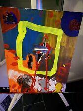 "Expressionismus POP Art Kunst Gemälde: ""Defloration"" Artist:FISH"