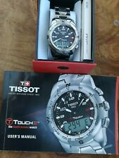Tissot T Touch II 2 Watch T047420 A. Stainless Steel. Black Dial