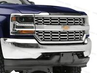 For 2016-2018 Chevy Silverado 1500 2pcs Chrome Grille Overlay Snap On Insert
