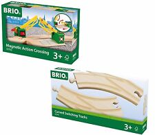 BRIO Pack (Curved Switching tracks 33346 + Magnetic Action Crossing 33750)