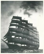 Grande argentique The Preussen bateau à voiles navire sailboat mer sea boat