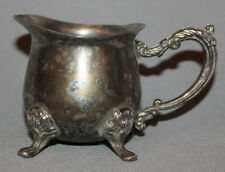 ANTIQUE ART DECO SILVERPLATED FOOTED CREAMER JUG