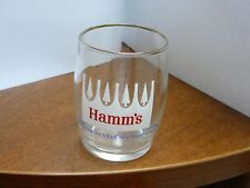 Hamm's Beer Barrel Glass White Pines - Tasting Drinking  - 3 1/4""