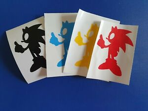 Sonic Inspired Silhouette VInyl Decal for phone tablet car Sticker