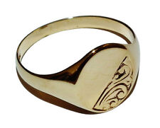 Precious Metal Fine Signet Rings without Stones