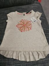 GIRLS SEQUIN TUNIC TOP AGE 12-18 MTHS BNWT