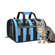 Cat Carrier-Portable Pet Travel Carrier Small Animals Carrier, Airplane Approved