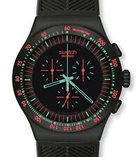 "SWATCH IRONY THE CHRONO ""MINT IN DARK"" (YOB105) NEUWARE, SELTEN"