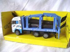 Machines de construction miniatures bleus