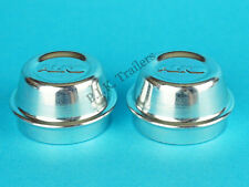 2 x 40mm Genuine ALKO Metal Grease Dust Hub Cap Cover Trailer & Caravan AL-KO
