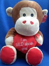 Monkey - 50cm Plush - I Am Wild About You - Brand New