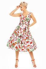 Retro Vintage Rockabilly Swing 1950's Party Butterfly Print Dress