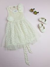 Baby Girl Size 1 - Cream Wedding Event Dress / Roses & Sequens