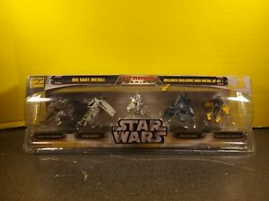 Star Wars Titanium Series 5-Pack With Raw Metal AT-RT Hasbro 2005 UNOPENED NEW
