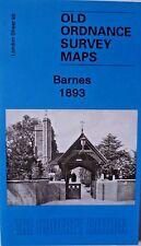 Old Ordnance Survey Map Barnes near Putney London 1893 Sheet 98 Brand New Map