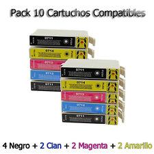 10 cartuchos Non Oem para Epson dx8400 dx4050 dx4400 dx4450 dx5000 dx5050 d120 s