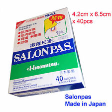 Salonpas Pain relief patches 6.5cm x 4.2cm x 40 patches  Made in JAPAN Free Post