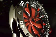 25849 Invicta Men's Speedway Turbine Automatic 52mm Red Dial Black Bracelet Watc