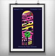 Retour vers le futur minimaliste minimal film movie poster print