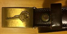 "GM General Motors Adult Belt w/ ""Your Key To Greater Value"" Buckle, From 1960s"