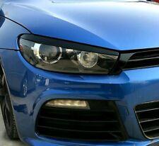 Fits VW Scirocco R GTS 2008-2017 Eyebrow Eyelids Headlight Trim Gloss Black