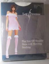 Leg Avenue 8745Q - 2-Teiler Schulterloses Kleid mit Rüschenbesatz