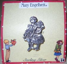 MARY ENGELBREIT STERLING SILVER BOY AND GIRL PIN BROOCH NEW OLD STOCK MINT