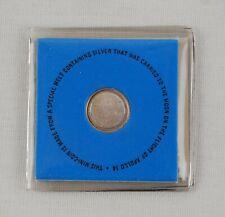 1971 Franklin Mint Apollo 14 Moon Silver Mini-Coin with COA
