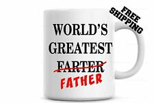 World's Greatest Farter Father Coffee Mug Father's Day Gift For Dad Birthday