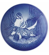 Bing & Grondahl 2014 Mother's Day Plate NIB Blue Tits with Chicks NEW IN BOX