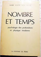 NOMBRE ET TEMPS/M.L VON FRANZ/ED FONTAINE DE PIERRE/1978/C.G.JUNG/PSYCHOLOGIE
