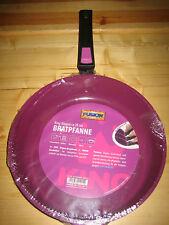KING Aluguss Keramikpfanne  Griff abnehmbar Farbe berry  Größe ca. 28 cm