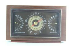 Vintage Taylor Instrument Company Temperature and Humidity Barometer In Mahogany