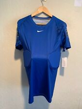 New Nike Dri Fit Men's Football Hips Padded Protective Training Shirt Large Blue