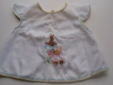 Vintage 1974 Frederick Warne Beatrix Potter Hand Embroidered Baby Apron White