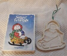 Vintage 1998 Longaberger Pottery Snow Friends Cookie Mold Series Sleigh Belle