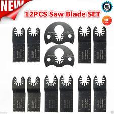 12x Oscillating Multi Tool Bi-Metal Saw Blade For Bosch Fein Multimaster Makita